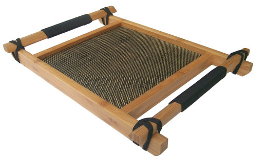 serviertablett tischdekoration aus bambus holz. Black Bedroom Furniture Sets. Home Design Ideas