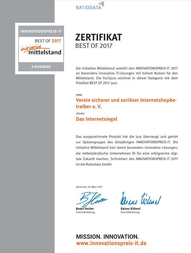 Zertifikat-Online-Shop
