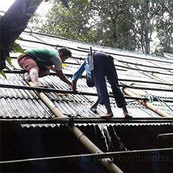 bambus-dach